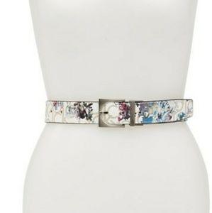 Calvin Klein Reversible Floral Logo Belt
